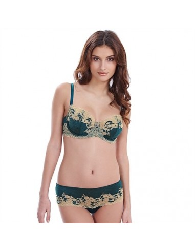 Tanga Lace Affair Forest Green WACOAL