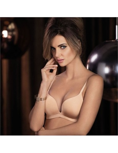Soutien-Gorge Push Up sans armatures Intuition Toasted beige - WACOAL