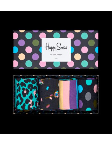 Boîte Cadeau 4 paires chaussettes STRIPE HAPPY SOCKS