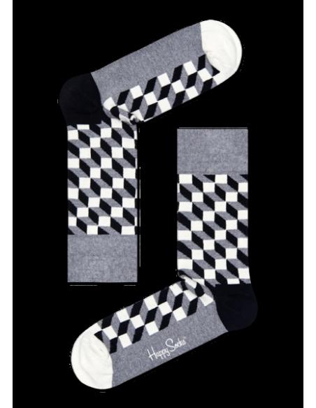 Boîte Cadeau 4 paires chaussettes OPTIC HAPPY SOCKS HSXOPT09-9000 HAPPY SOCKS