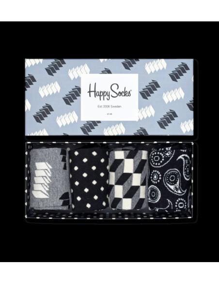 Boîte Cadeau 4 paires chaussettes OPTIC HAPPY SOCKS