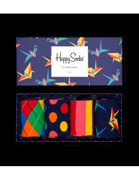 Boîte Cadeau 4 paires chaussettes ORIGAMI HAPPY SOCKS