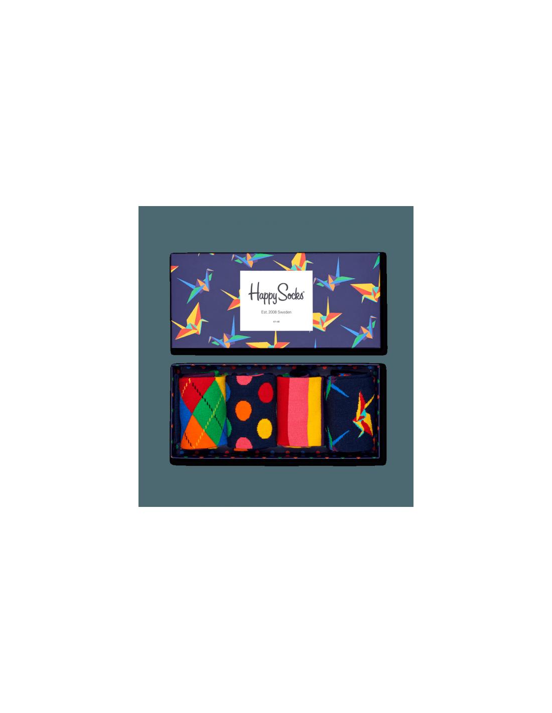 bo te cadeau 4 paires chaussettes origami happy socks. Black Bedroom Furniture Sets. Home Design Ideas