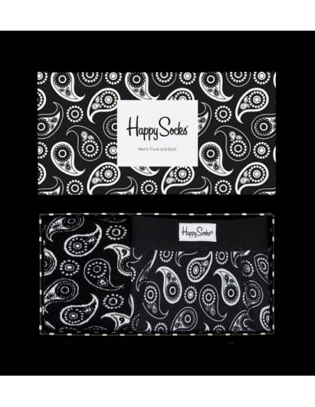 Boîte Cadeau BOXER + SOCKS Homme PAISLEY HAPPY SOCKS-Pour Lui, sous vêtements Homme