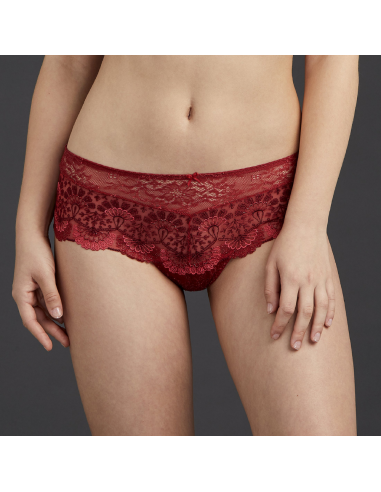 Shorty Saint Tropez en dentelle ART OF INK- Aubade french red