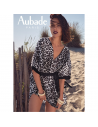 Tunique de plage en coton ENTRE DUNES et VAGUES panthère - Aubade