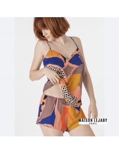 Caraco imprimé COLORBLOCK Maison Lejaby origami