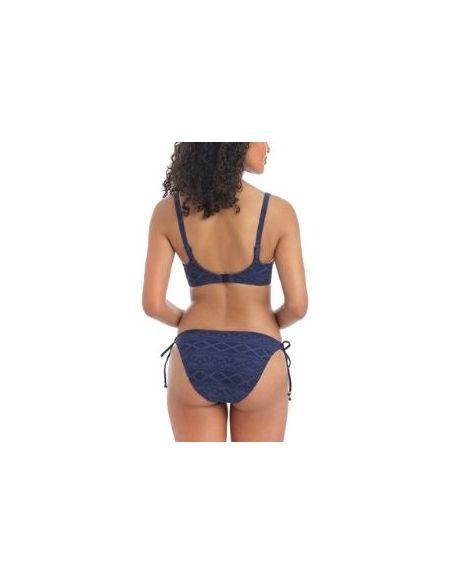 Bas de maillot slip bikini avec nouettes SUNDANCE - Freya denim