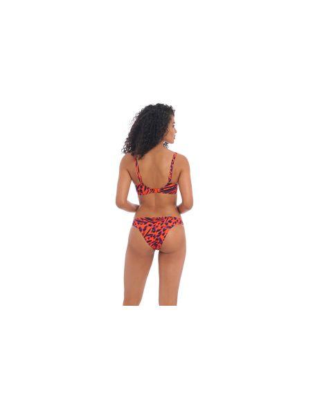 Bas de maillot de bain slip bikini brésilien TIGER BAY Freya sunset