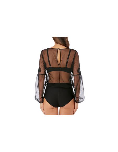 Body transparent LUMIERE DOUCE Wacoal Noir