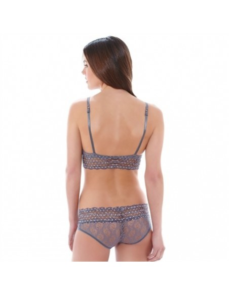 Slip Hipster LACE KISS B.TEMPT'D By WACOAL - Platinium
