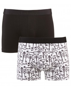 Pack 2 Boxers Secret Locks & Noir AUBADE MEN
