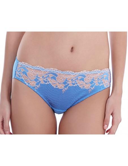 Slip LACE AFFAIR WACOAL - Bleu Provence Promo -50%-Lingerie fine et Maillots de bain pour elle