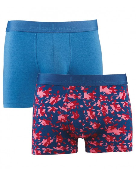 Pack 2 Boxers Jardin Anglais & Bleu