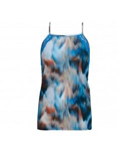 TShirt Imprimé CHRYSTALLE Bleu Lagoon WACOAL