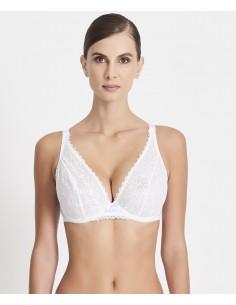 Soutien Gorge Triangle Bonnets Profonds ODALISQUE Aubade Blanc