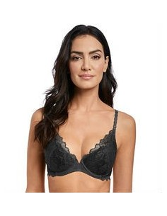 Soutien Gorge push up Lace Perfection Charcoal Nouveau Wacoal