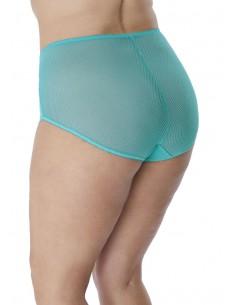 f105 Choices Nylon Culotte Avec Satin Bleu Taille XXL nylonslip Culotte pantie Slip